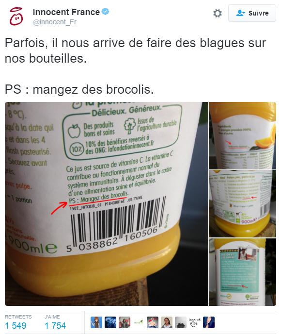 Exemple de tweet avec des images