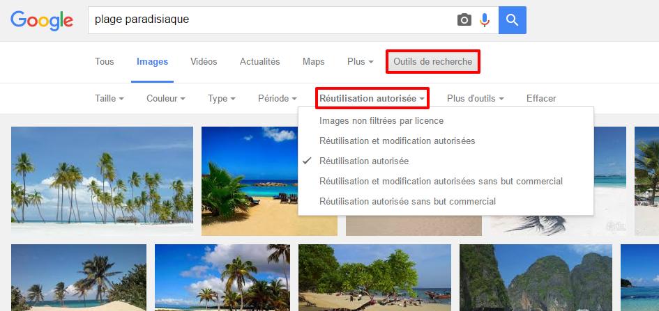 Images libres de droit sur Google images