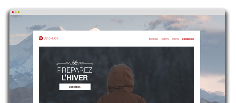 Second exemple de site créé