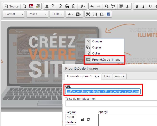 Comment modifier facilement l 39 adresse d 39 une image cr er un site avec wifeo - Comment changer l odeur d une maison ...