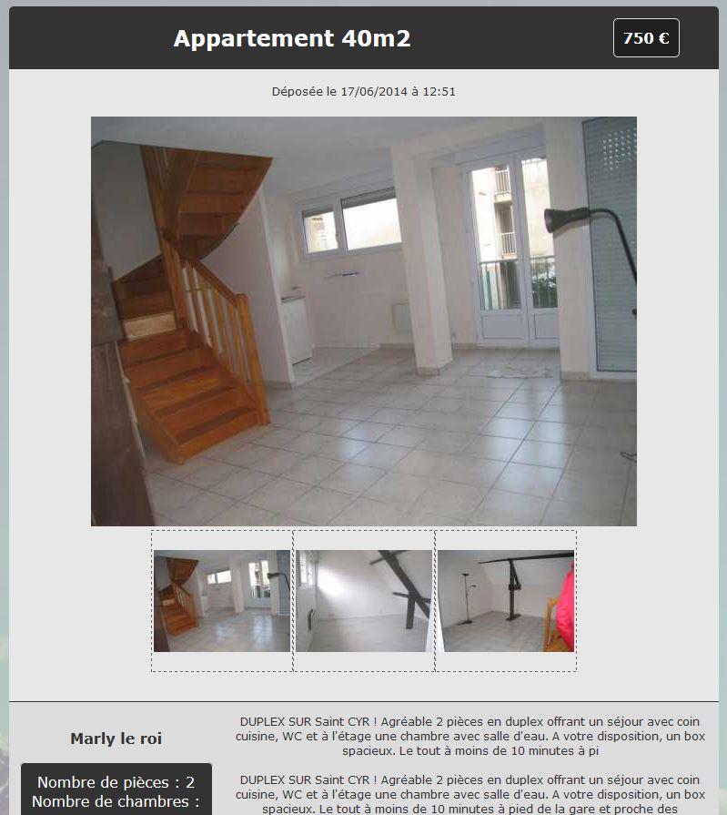 Cr er un site de petites annonces immobili res for Annonce immobiliere
