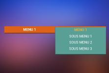 Full css menu
