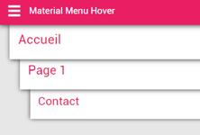 MATERIAL DESIGN MENU CSS