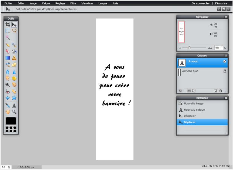 Top Comment créer un bannière publicitaire sous forme d`image  CV39